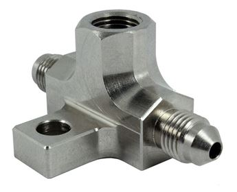 """Picture of Steel -3AN Male 1/8"""" NPT Port Brake Switch Tee Piece"""